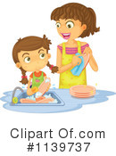 Royalty-Free (RF) Washing Dishes Clipart Illustration #1139737