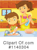 Washing Dishes Clipart #1140304 by Graphics RF