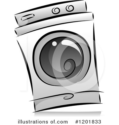 Royalty-Free (RF) Washing Machine Clipart Illustration by BNP Design Studio - Stock Sample #1201833