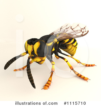 Wasp Clipart #1115710 by Leo Blanchette