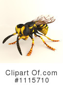 Royalty-Free (RF) Wasp Clipart Illustration #1115710