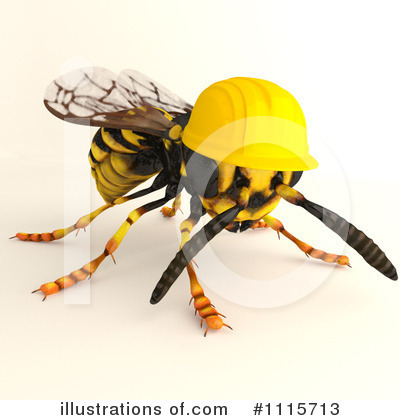 Wasp Clipart #1115713 by Leo Blanchette