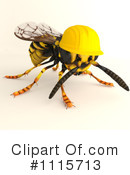 Royalty-Free (RF) Wasp Clipart Illustration #1115713