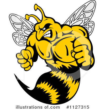 Bee Clipart #1127315 by Vector Tradition SM