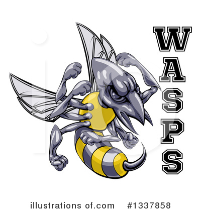 Wasp Clipart #1337858 by AtStockIllustration