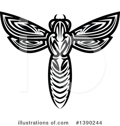 Wasp Clipart #1390244 by Vector Tradition SM