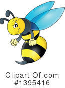 Wasp Clipart #1395416 by visekart