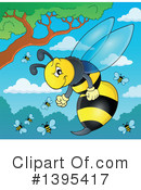Royalty-Free (RF) Wasp Clipart Illustration #1395417