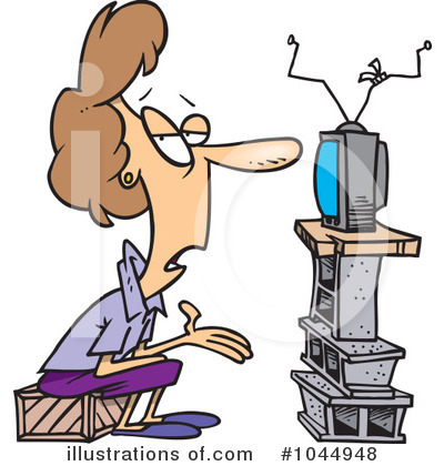 Watching Tv Clipart #1044948 by toonaday