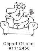 Royalty-Free (RF) Watching Tv Clipart Illustration #1112458