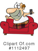 Royalty-Free (RF) Watching Tv Clipart Illustration #1112497