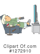 Watching Tv Clipart #1272910 by djart