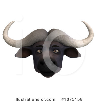 Water Buffalo Clipart #1075158 by Ralf61