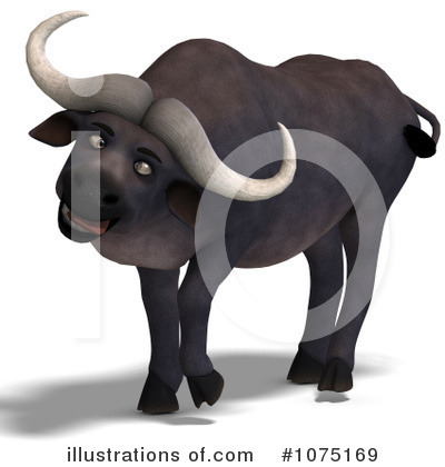 Water Buffalo Clipart #1075169 by Ralf61