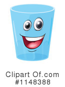 Royalty-Free (RF) Water Cup Clipart Illustration #1148388