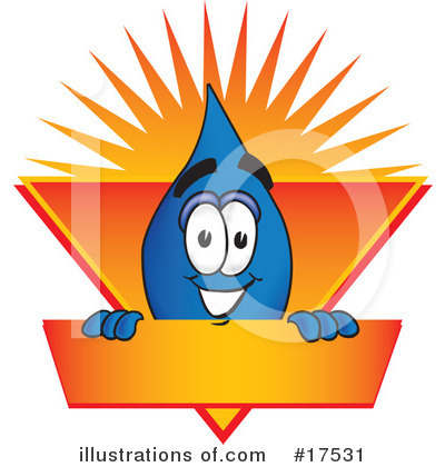 Royalty-Free (RF) Water Drop Character Clipart Illustration by Toons4Biz - Stock Sample #17531