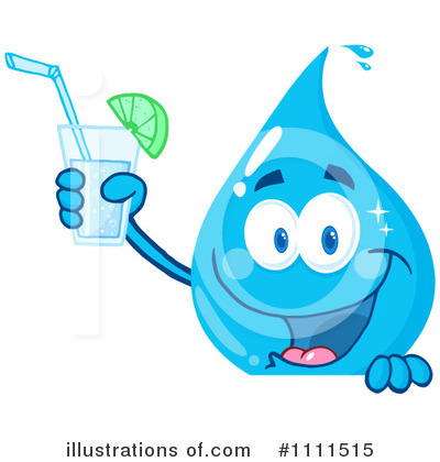 Royalty free rf water drop clipart illustration by hit toon stock