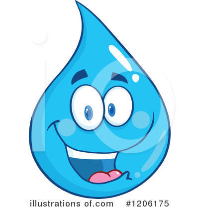 Water Drop Clipart #1206175 by Hit Toon
