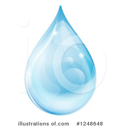 Royalty-Free (RF) Water Drop Clipart Illustration by AtStockIllustration - Stock Sample #1248648