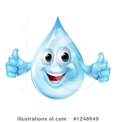 Water Drop Clipart #1248649 by AtStockIllustration