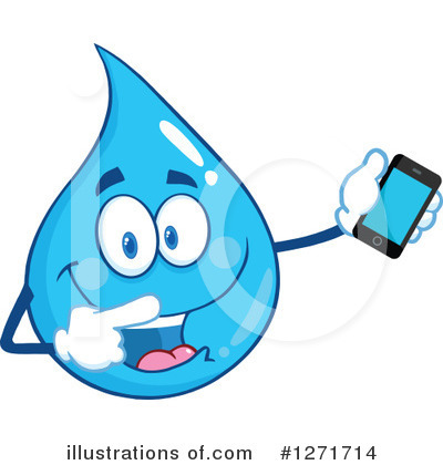 Cell Phone Clipart #1271714 by Hit Toon