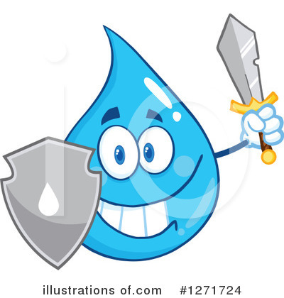 Water Drop Clipart #1271724 by Hit Toon