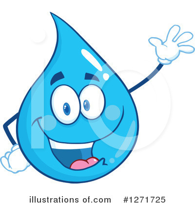 Water Drop Clipart #1271725 by Hit Toon