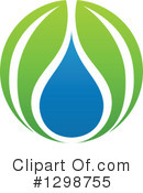 Royalty-Free (RF) Water Drop Clipart Illustration #1298755