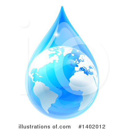 Water Drop Clipart #1402012 by AtStockIllustration