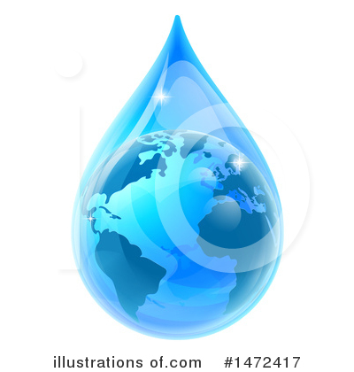 Water Drop Clipart #1472417 by AtStockIllustration