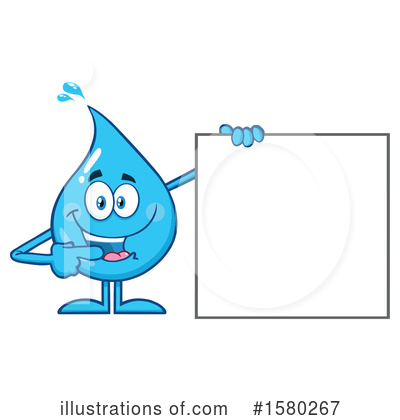 Royalty-Free (RF) Water Drop Clipart Illustration by Hit Toon - Stock Sample #1580267