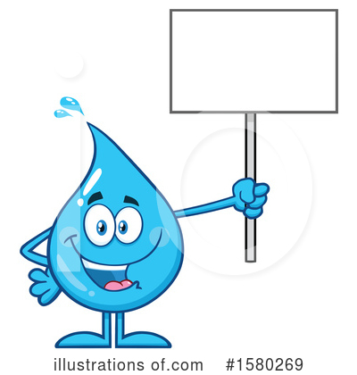 Royalty-Free (RF) Water Drop Clipart Illustration by Hit Toon - Stock Sample #1580269