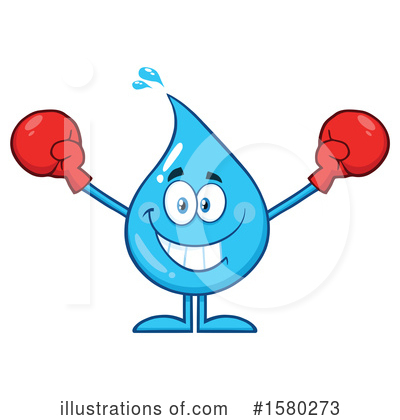 Royalty-Free (RF) Water Drop Clipart Illustration by Hit Toon - Stock Sample #1580273