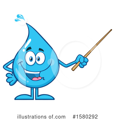 Royalty-Free (RF) Water Drop Clipart Illustration by Hit Toon - Stock Sample #1580292