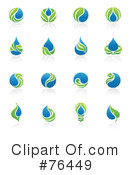 Royalty-Free (RF) Water Drop Clipart Illustration #76449