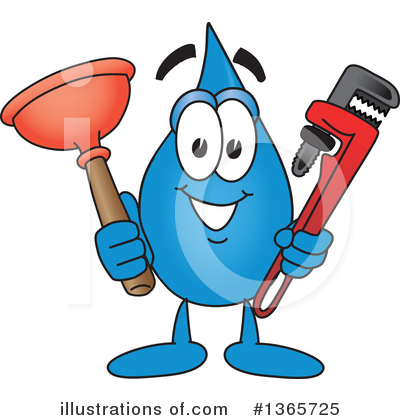 Water Drop Character Clipart #1365725 by Toons4Biz