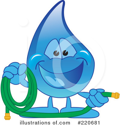 Water Drop Character Clipart #220681 by Toons4Biz