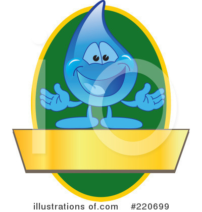 Water Droplet Character Clipart #220699 by Toons4Biz