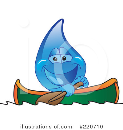Water Droplet Character Clipart #220710 by Toons4Biz