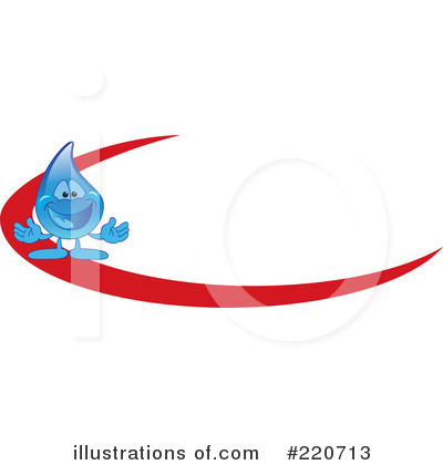 Water Droplet Character Clipart #220713 by Toons4Biz