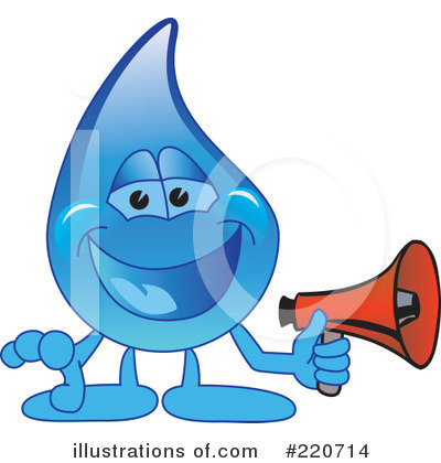 Water Droplet Character Clipart #220714 by Toons4Biz
