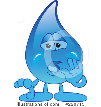 Water Droplet Character Clipart #220715 by Toons4Biz