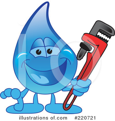 Water Droplet Character Clipart #220721 by Toons4Biz