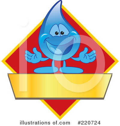 Water Droplet Character Clipart #220724 by Toons4Biz