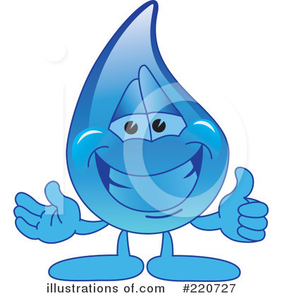 Water Drop Character Clipart #220727 by Toons4Biz