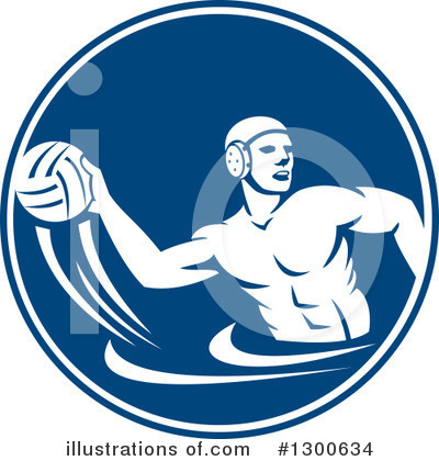Water Polo Clipart #1300634 by patrimonio