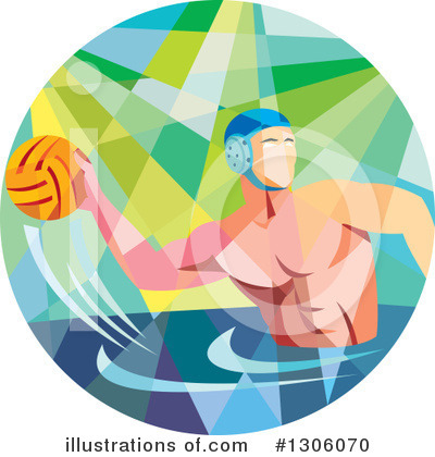 Royalty-Free (RF) Water Polo Clipart Illustration by patrimonio - Stock Sample #1306070