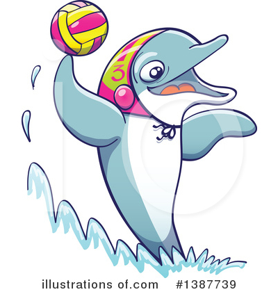 Dolphin Clipart #1387739 by Zooco
