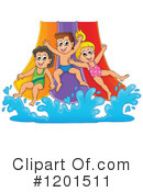 Royalty-Free (RF) Water Slide Clipart Illustration #1201511