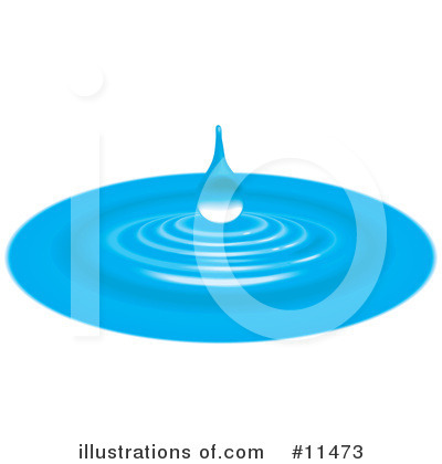 Water Drop Clipart #11473 by AtStockIllustration